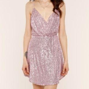 Heartloom pink sequin dress